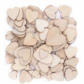 Dřevěný výsek srdíčka 3 velikostí - 120ks/ekon.balení/