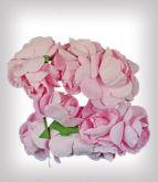 Růžičky na drátku papírové cca 25mm - 6ks