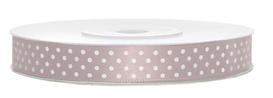 Stuha saténová/atlasová/ puntík 12 mm - 25m - lila fialová