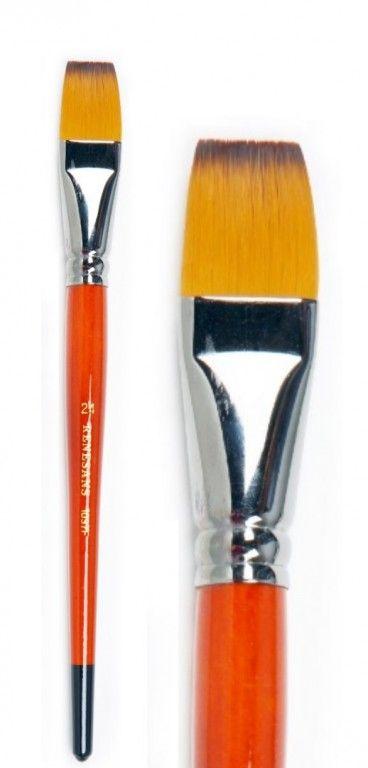 Štětec s krátkou rukojetí syntetický plochý 1097F - 1ks Renesans