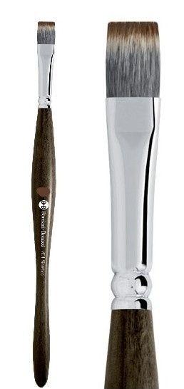Akvarelový plochý ergonomický štětec Mangusta B+B 801 Borciani & Bonazzi