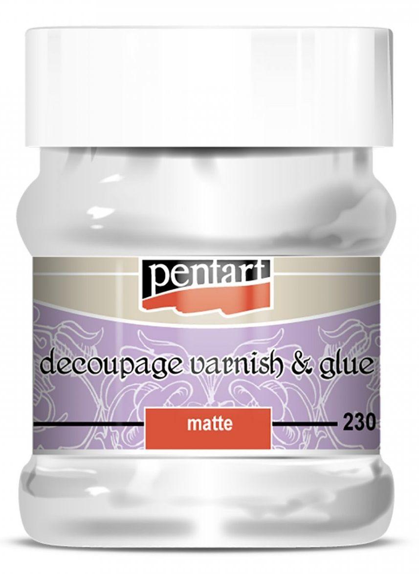 2v1 Lak a lepidlo akrylové Pentart matt - 230ml