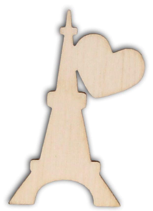 Dekorace dřevěná EIFFELOVA VĚŽ 50x29mm