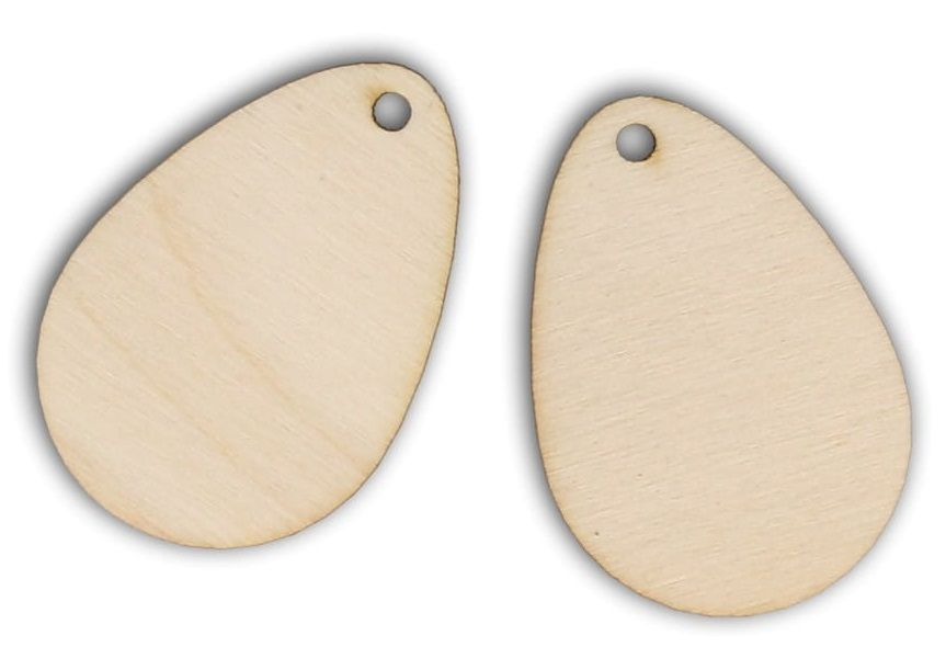 Dekorace dřevěná k zavěšení VEJCE 50x35mm - 1ks