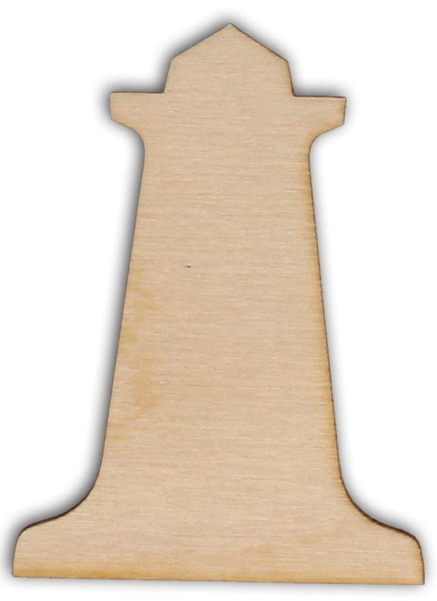 Dekorace dřevěná MAJÁK 70x52mm - 1ks