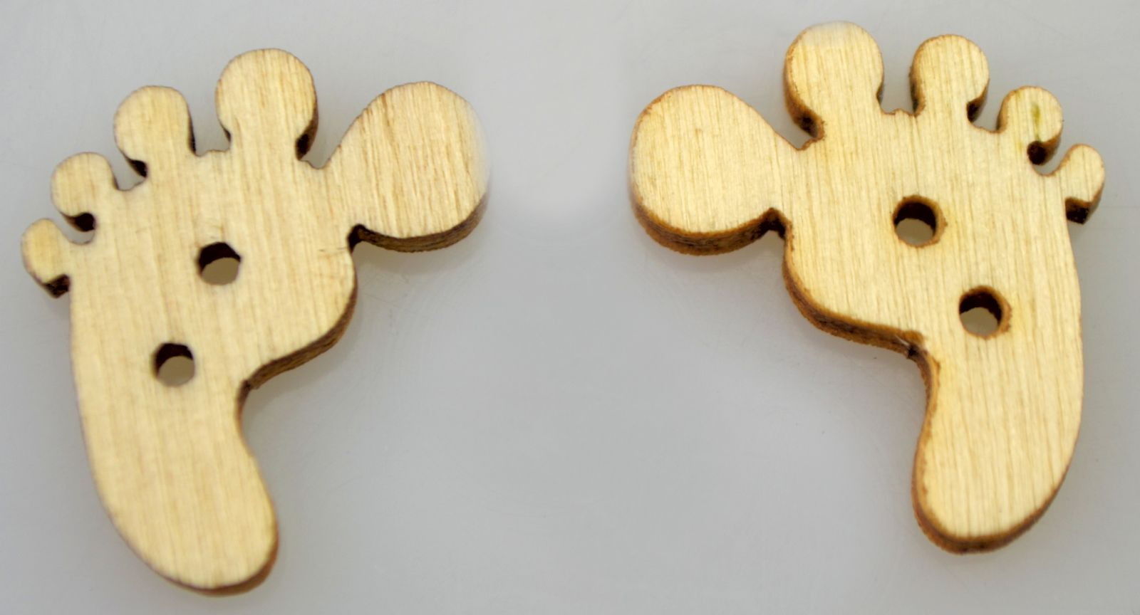 Dřevěný knoflíček TLAPKA 20x18mm - 1ks