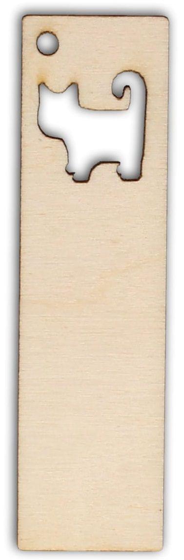 Dřevěný závěs/záložka KOTĚ 95x25mm