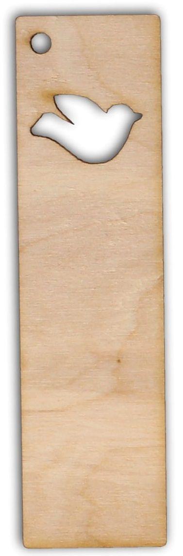 Dřevěný závěs/záložka PTÁČEK 95x25mm