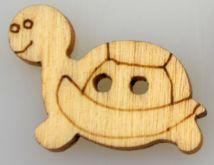 Dřevěný knoflíček ŽELVA 19x18mm - 1ks