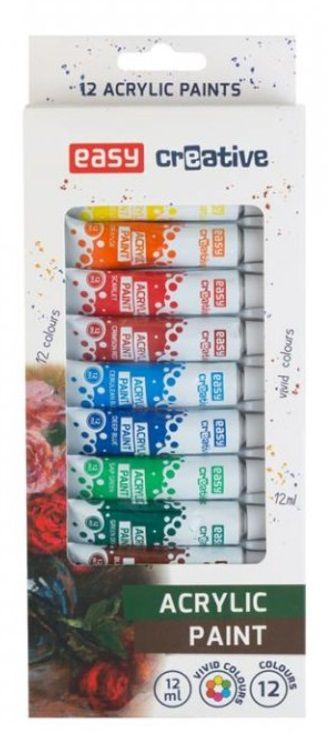 Sada akrylových barev EASY 12x12ml