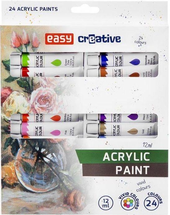 Sada akrylových barev EASY 24x12ml