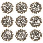 Dekorace filigránová ORNAMENT antik bronz 35,5mm - 1ks