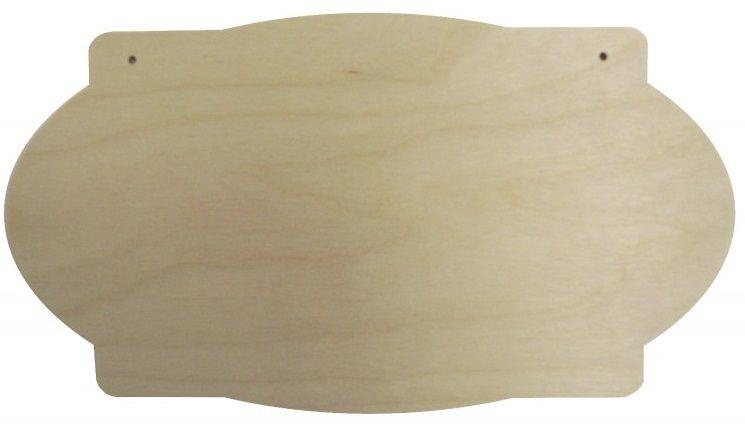 Dřevěný závěs CEDULKA 26x14cm 1ks