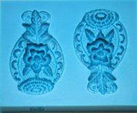 Forma silikonová KVĚTINOVÝ DEKOR 73x60mm