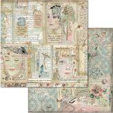 Kreativní oboustr.papír TVÁŘE 190g/m2 - 30,5x30,5cm
