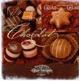 Ubrousek 33x33 cm Čokoláda