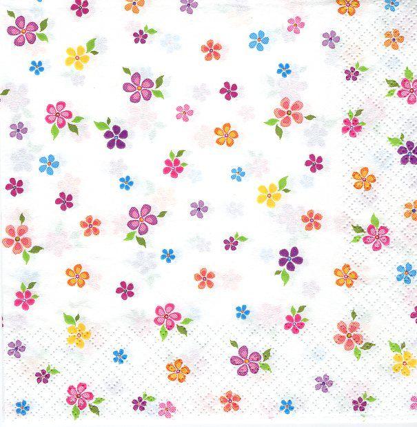 Ubrousky 33 x 33 cm Květinky