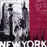 Ubrousek 33x33 NEW YORK