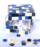 Mozaikové skleněné kamínky 10x10 mm - mix barev