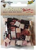 Mozaika MRAMOR červený 10x10mm