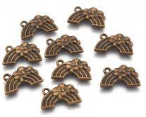 Dekorace kov MRÁČEK 12x20x2mm barva antik bronz - 1ks