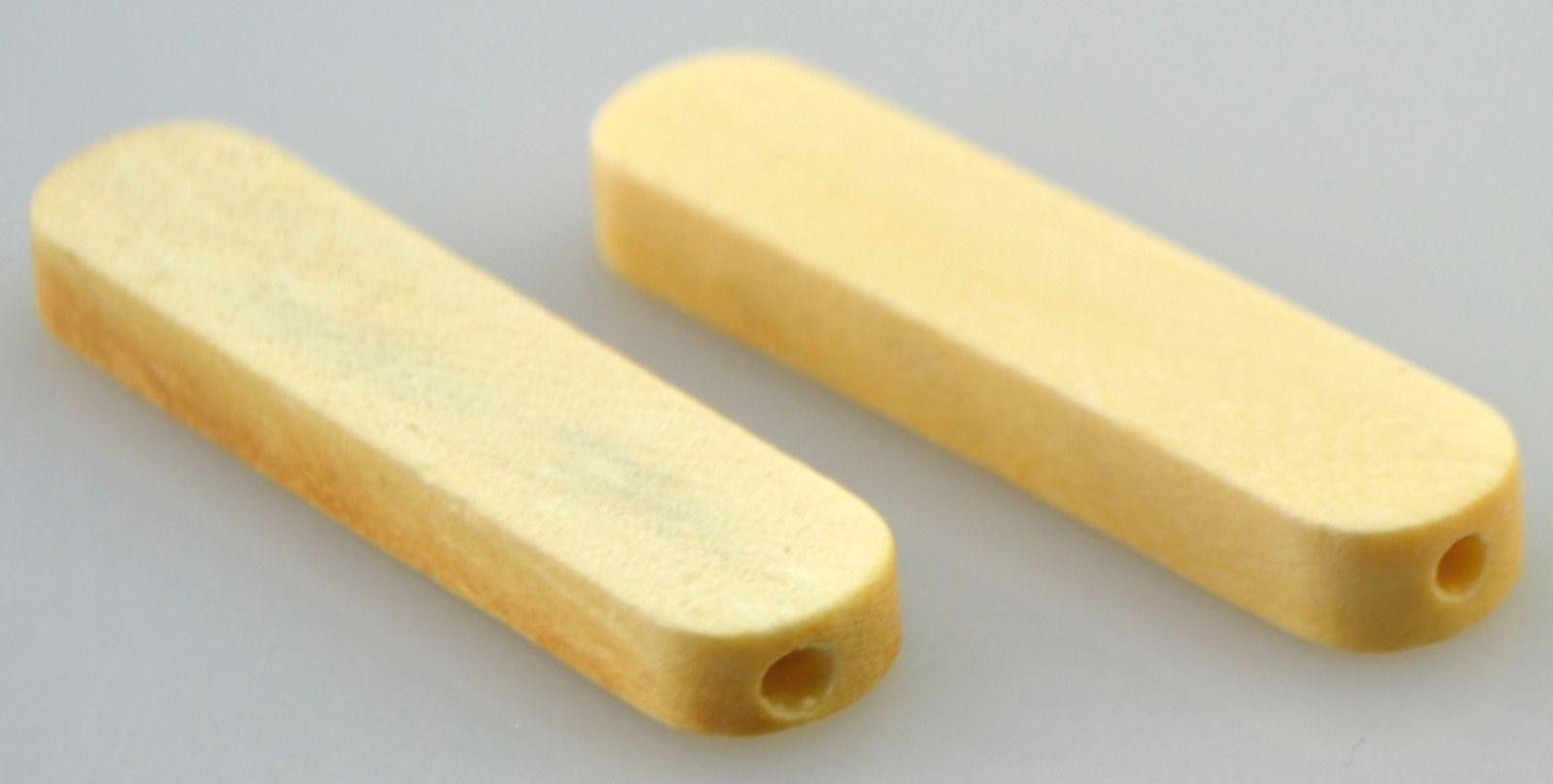 Dřevěný korálek pásek 40x9mm - 1ks