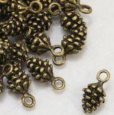 Přívěsek kov Šiška 13x7x5,5mm baeva antik bronz - 1ks