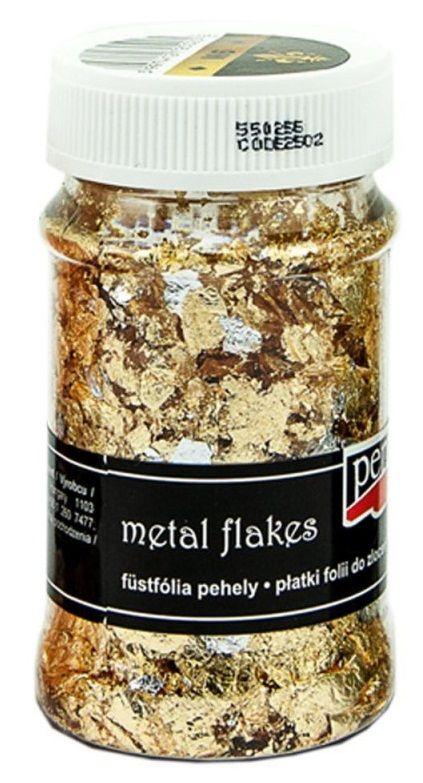 Metalické lupínky ZLATO-STŘÍBRO 100ml PentArt