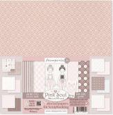 Sada oboustranných papírů PINK SOUL190 g/m2 30,5x31cm - 6ks