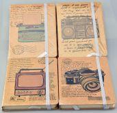 Zápisník linkovaný se záložkou a gumou RETRO 14,5x10,5cm - 96 listů