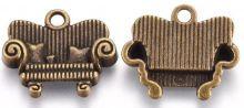 Dekorace kov přívěsek POHOVKA 14x16x3mm - 1ks