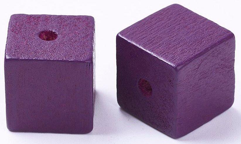 Dřevěné korálky KOSTKY 14,5x14,5mm - 1ks