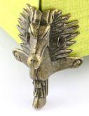 Ozdobné kování na krabičky Nožička KONÍK antik bronz 39x23mm - 1ks