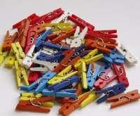 Kolíčky barevné 45x7mm - cca 30ks