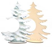 Dekorace dřevěná  STROMEČEK na stojánku ke zdobení 30x24cm - 1ks