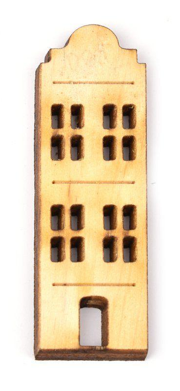 Dekorace dřevěná výsek DOMEČEK 50x17mm - 1ks