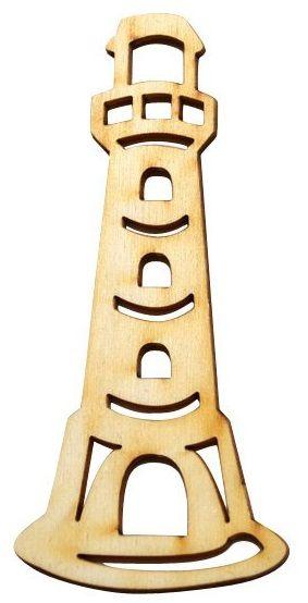 Dekorace dřevěná výsek MAJÁK 48x110mm - 1ks