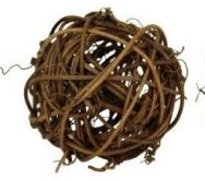 Dekorace přírodní KOULE hnědá 10cm - 1ks