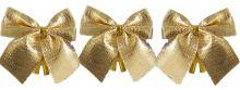 Dekorace textilní MAŠLE 6cm - 12ks   Červené, Stříbrné, Zlaté