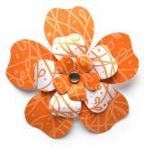 Kartonový výsek KVĚT oranžový /6509/ - 3 květy