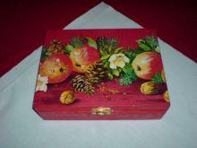 krabička na čaj - vánoční motiv